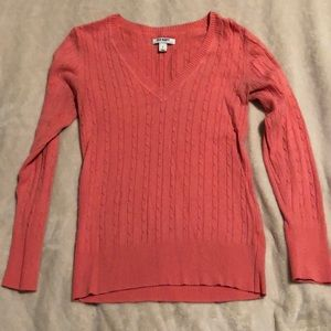 Old Navy pink cable knit sweater